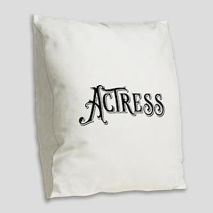 Actress Burlap Throw Pillow