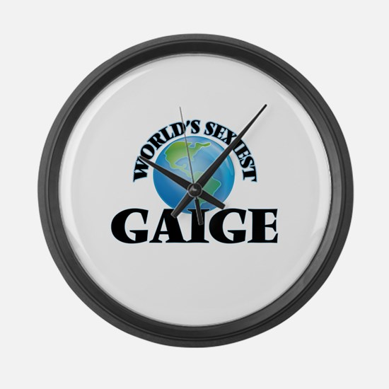 World's Sexiest Gaige Large Wall Clock