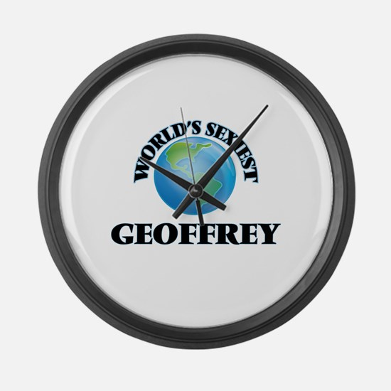 World's Sexiest Geoffrey Large Wall Clock