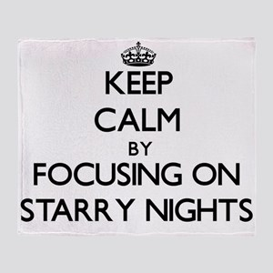 Keep Calm by focusing on Starry Nigh Throw Blanket