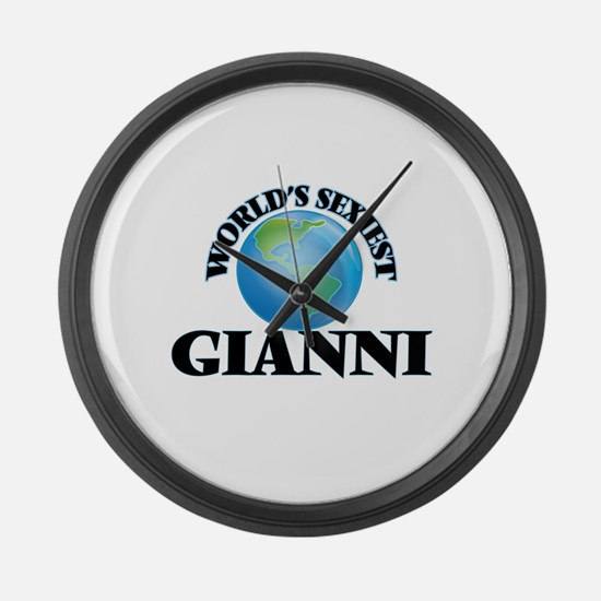 World's Sexiest Gianni Large Wall Clock