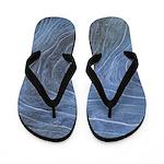 Blue Grain Flip Flops