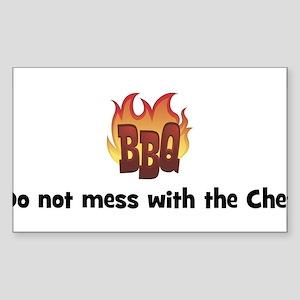 BBQ Fire: Do not mess with th Sticker (Rectangular