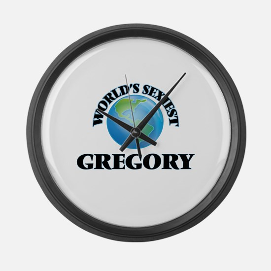 World's Sexiest Gregory Large Wall Clock