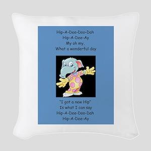 Hip-A-Dee-Doo-Dah Woven Throw Pillow