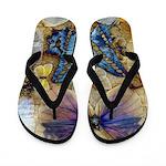 Antique Butterfly Enhanced Flip Flops