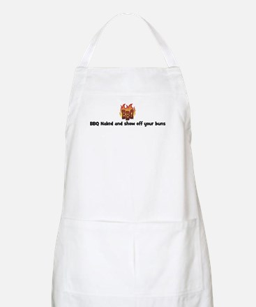 BBQ Fire: BBQ Naked and show  BBQ Apron
