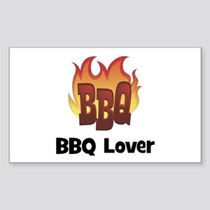 BBQ Fire: BBQ Lover Rectangle Sticker