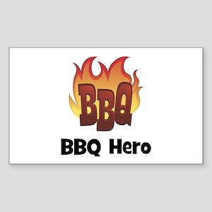 BBQ Fire: BBQ Hero Rectangle Sticker