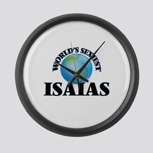 World's Sexiest Isaias Large Wall Clock
