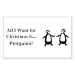 Christmas Penguins Sticker (Rectangle 50 pk)