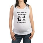 Christmas Penguins Maternity Tank Top
