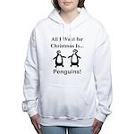 Christmas Penguins Women's Hooded Sweatshirt