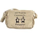 Christmas Penguins Messenger Bag