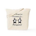 Christmas Penguins Tote Bag