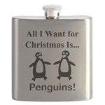 Christmas Penguins Flask