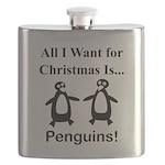 Christmas Penguins Flask