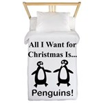 Christmas Penguins Twin Duvet