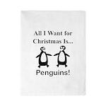 Christmas Penguins Twin Duvet