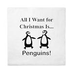 Christmas Penguins Queen Duvet