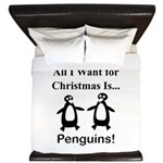 Christmas Penguins King Duvet