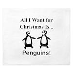 Christmas Penguins King Duvet