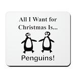 Christmas Penguins Mousepad