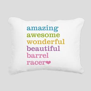 Barrel Racer Rectangular Canvas Pillow