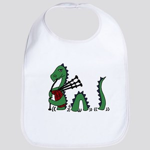 Loch Ness Monster Bagpipes Bib