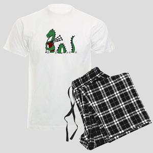 Loch Ness Monster Bagpipes Men's Light Pajamas