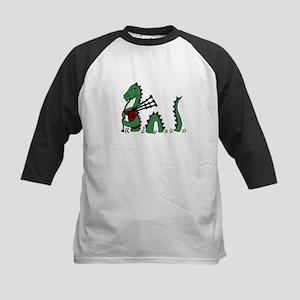 Loch Ness Monster Bagpipes Baseball Jersey