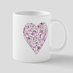 Pink floral heart Mug