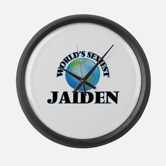 World's Sexiest Jaiden Large Wall Clock