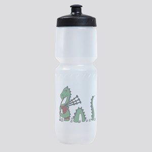 Loch Ness Monster Bagpipes Sports Bottle