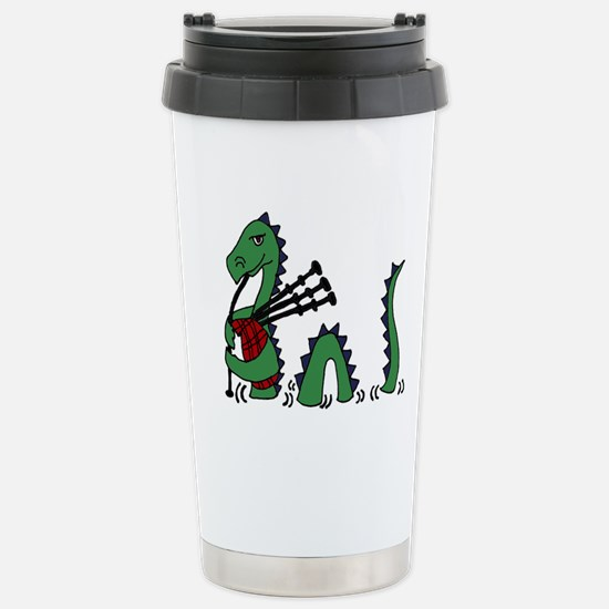Loch Ness Monster Bagpi Stainless Steel Travel Mug