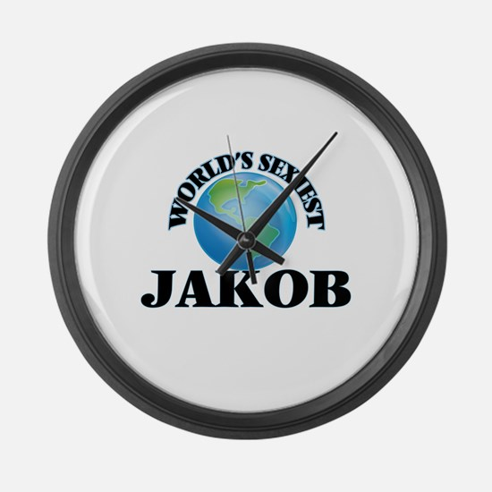 World's Sexiest Jakob Large Wall Clock