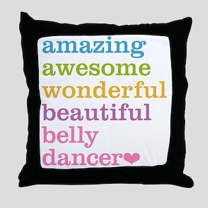 Belly Dancer Throw Pillow