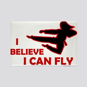I Believe I Can Fly (Female) Rectangle Magnet