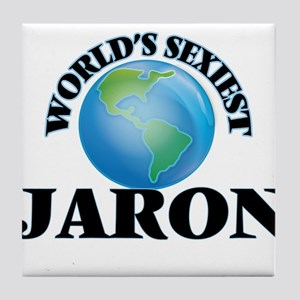 World's Sexiest Jaron Tile Coaster