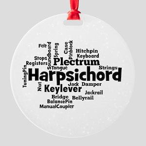 Harpsichord Word Cloud Ornament