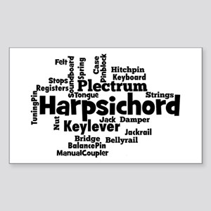 Harpsichord Word Cloud Sticker