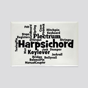 Harpsichord Word Cloud Magnets