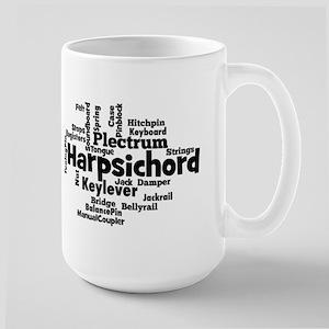 Harpsichord Word Cloud Mugs