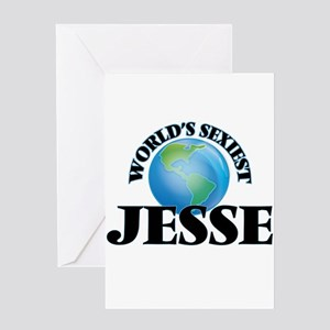 World's Sexiest Jesse Greeting Cards
