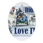 Ride & Love IT Ornament (Oval)