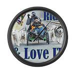 Ride & Love IT Large Wall Clock