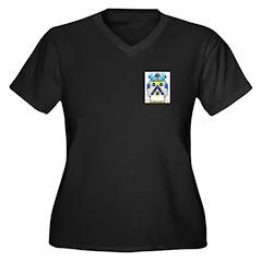 Goldsand Women's Plus Size V-Neck Dark T-Shirt