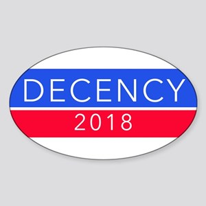 DECENCY 2018 bumper sticker Sticker