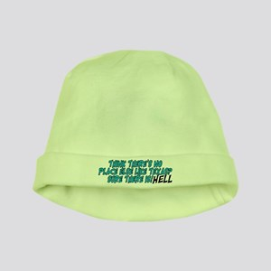524188efe08a6 No place like Texas  HELL - baby hat