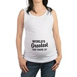 Worlds Greatest Maternity Tank Top